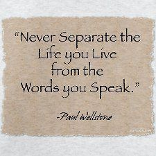 Walk the talk! God says to share Him but we MUST also DO his will...live as He lived and let our light shine, through or words AND deeds <3