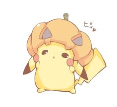 Pikaween. Pikachu (by うさ乃@7月まで活動休止気味, Pixiv Id 1848740)