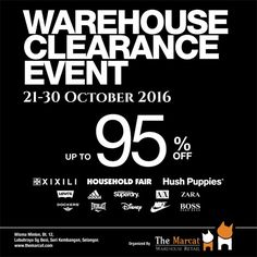 21-30 Oct 2016: The Marcat Warehouse Clearance Event