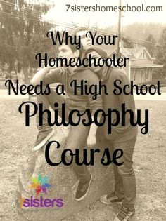 Why Your Homeschooler Needs a High School Philosophy Course high school philosophy course – It's important to help our teens learn to think about the thinking behind a thing! (and colleges love to see Philosophy on the high school transcript! School Info, School Resources, School Fun, School Stuff, High School Transcript, High School Curriculum, Homeschool Transcripts, Homeschool Curriculum, Catholic Homeschooling