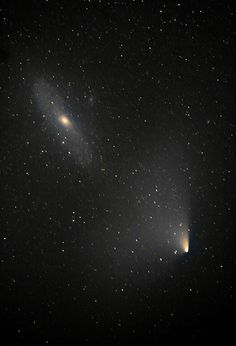 2.5 Million Lightyears apart... PanSTARRS & Andromeda Encounter | by Donegal Skies