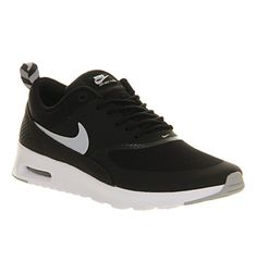Nike Air Max Thea Black Wolf Grey White - Hers trainers - office sizes