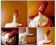 cake  bolo lata flutuante