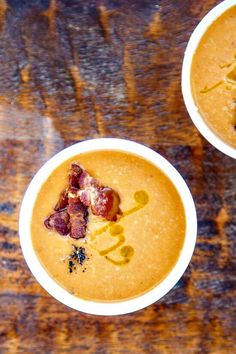 Navy Bean Soup with Bacon. This is the only bean soup I've ever made where I got TWO double-takes at the table after the first bite and LOADS of compliments! Smooth, creamy, flavorful and guaranteed to make the whole family dinner happy :)