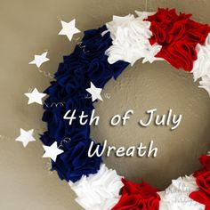 4th of July Wreath from Crafty Meggy