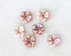 2050_Pink mother of pearl 13mm x 3mm, Flower beads, Mother of pearl beads, Gemstone Beads, Mother of pearl jewelry, Natural beads_6 pcs by PurrrMurrr on Etsy