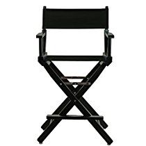 """Casual Home Frame Canvas Director Chair, 24"""", Black"""