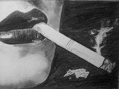 Smoking - Sketching by Simon Mhanna at touchtalent 2943
