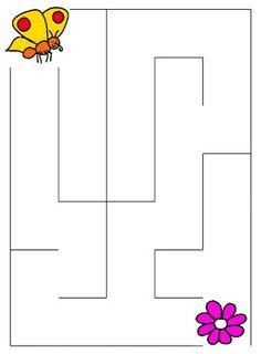 Pro Šíšu: Bludiste Preschool Bible Lessons, Preschool Writing, Preschool Learning Activities, Free Preschool, Writing Activities, Kids Learning, Fun Worksheets For Kids, Mazes For Kids, Preschool Worksheets