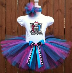 custom monster high tutu set www.alittlechicboutique.com