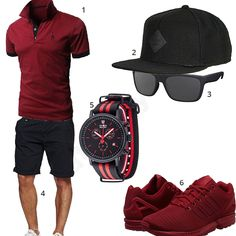 Schwarz-Rotes Herren-Style mit Detomaso (m0340) #outfit #style #fashion #menswear #mensfashion #inspiration #shirts #weste #cloth #clothing #männermode #herrenmode #shirt #mode #styling #sneaker