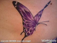 reminds me of my mom! Purple Butterfly Tattoo, Butterfly Tattoo On Shoulder, Butterfly Tattoos For Women, Butterfly Tattoo Designs, Leg Tattoos, Small Tattoos, Sleeve Tattoos, Tattoo Outline, Lace Tattoo