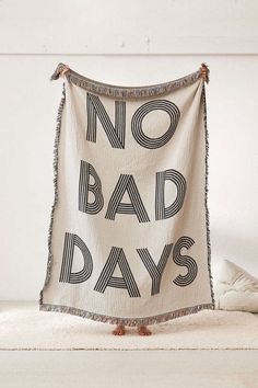 No Bad Days Woven Throw Blanket