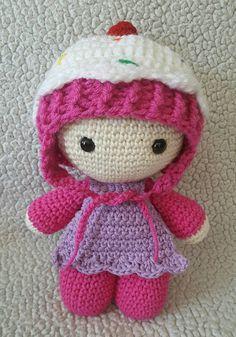 Crochet Cupcake Big Head Doll big head dolls by DesignsbyBBB