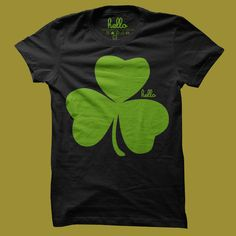 shamrock st patricks day tee for toddlers, kids and adults by hello apparel