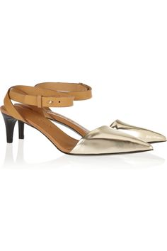 Metallic + Leather Points See by Chloé