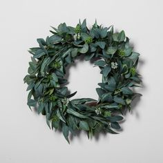 "Hearth & Hand with Magnolia Eucalyptus Wreath (24"")"