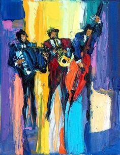 Maya Green. Jazz Café  10 x 8. Original oil on by ArtMayaGreen, $1200.00