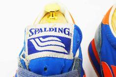 Spalding vintage sneaker label logo detail @ The Deffest