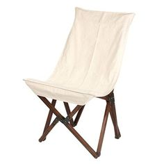 Wooden Folding Chair, Ivory