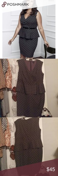 Torrid Dress Torrid Retro Style Peplum Dress...polka dots...belt not included...zips in the back...EUC torrid Dresses