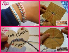 Con este tutorial aprenderemos a tejer una pulsera con corazones. ¡Un regalo para los mejores amigos!