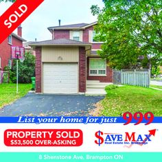 #JustSold this 3 Bedroom #DetachedHome on Premium Corner Lot $53,500 Over-asking Price! Congratulations to our sellers for this phenomenal Sale :) Sell Max With Save Max... Corner Lot, Congratulations, Real Estate, Bedroom, Outdoor Decor, Home Decor, Bedrooms, Real Estates, Interior Design