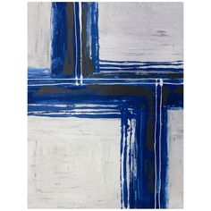 I pinned this Blue Line Canvas Wall Art from the Clean & Colorful event at Joss and Main!