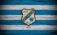 Download wallpapers Rijeka, 4k, HNL, art, soccer, football, Croatia, FC Rijeka, wooden texture, logo, football club, Rijeka FC