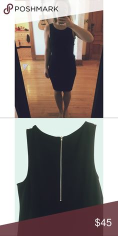 Black Body Con Dress Simple, elegant, and fierce! This is a body hugging, soft, stretchy yet stable little number. Size XS, but for reference, I am a size 4 with some booty. Length is awesome because it allows you to wear it tight without being to revealing. Only worn a handful of times - turned out to just not be 100% my style. In great condition! Trouve Dresses