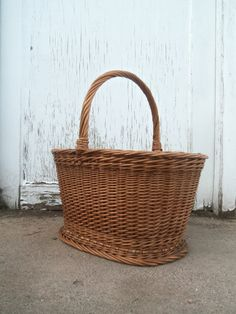 Your place to buy and sell all things handmade Cane Furniture, Wood Basket, Missing Piece, Farm Gardens, Storage Baskets, Wicker, Country, Awesome, Pretty
