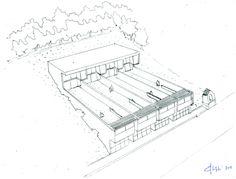 Sixten Sason in wonderland — Luigi Snozzi, tre case unifamiliari, Rovio, 2012 Wonderland, Design Inspiration, How To Plan, Drawings, Ale, Projects, Sketch, Switzerland, Sketches