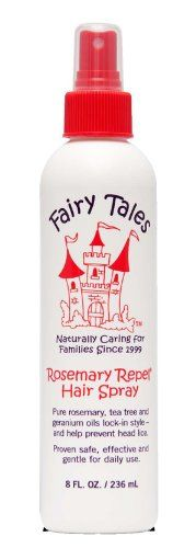 Rosemary repel spray and shield by fairy tales for kids 8 ounce hairspray. Rosemary repel spray and shield was launched by the design house of fairy tales. It is recommended for normal hair. Fairy Tales Shampoo, Lice Repellent, Lice Remedies, Fairy Tales For Kids, Organic Hair Care, Citronella, Hairspray, Beauty Shop