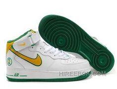 best service 47376 5080c Nike Air Force 1 Mid GreenWhiteYellow Sports Shoes Top Deals, Price  54.08 - Reebok Shoes,Reebok Classic,Reebok Mens Shoes