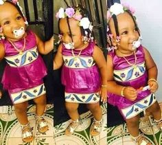(52 Images) : Tendance tabaski 2016 African Attire, African Wear, African Fashion Dresses, African Dress, African Traditional Wear, Traditional Outfits, Cute Kids Fashion, Girl Fashion, Kids Mania