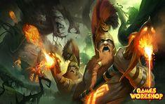 ArtStation - Games Workshop Commision: Fyreslayers vs Hellpit Abominations, Dave Paget