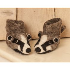Billie Badger | Children's Felt Slippers | Sew Heart Felt