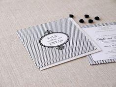 Black & white wedding invitation by Alannah Rose - http://www.alannahrose.com.au