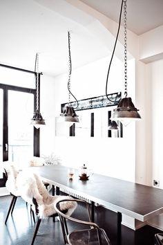 Airy Paris Apartment - modern art completes this hip Parisian pad