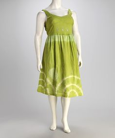 Take a look at this Green Tie-Dye Plus-Size Dress --- needs to be a totally different color