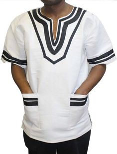Umbhaco Xhosa Shirt with Binding - Traditional Attire African Shirts For Men, African Attire For Men, African Clothing For Men, African Men Fashion, African Wear, African Fashion Dresses, Fashion Outfits, African Traditional Wedding Dress, Traditional Outfits