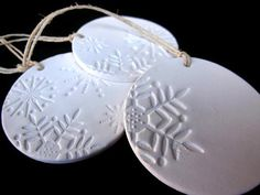 Set of 3 Handmade Ceramic Christmas by ThisOnesMineDesigns on Etsy