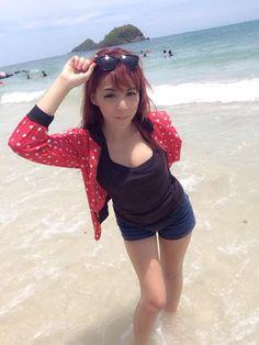 At the beach in Bangkok