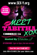 Sunday FUNDAY at Commerce  Meet Tabitha Jul 09 , 5pm - Jul 10 , 9:30pm  Commerce, CA #swingers #lifestyle http://sex-y.org/events/13223