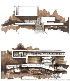 Архитектурные зарисовки и подачи. Часть 2. | 64 фотографии