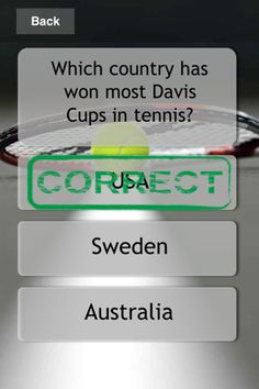 Mega Golf and Tennis Quiz iPhone and iPad app by Appanero. Genre: Games application.