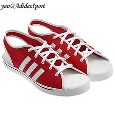 separation shoes 07181 89d90 Unisex Adidas Jeremy Scott men and women red white sandals HOT SALE! HOT  PRICE!