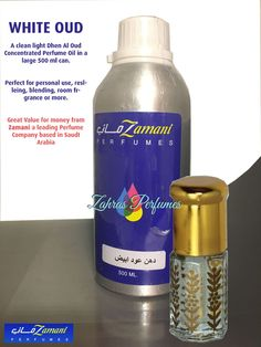 WHITE OUD 3ml Concentrated Perfume Oil Zamani Saudi Clean Oudh Fragrance Oudh #Zamani
