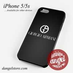 Giorgio Armani Black Logo Phone case for iPhone 4/4s/5/5c/5s/6/6s/6 plus