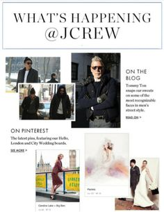 J. Crew showcases its Pinterest boards.
